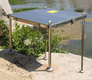 Factory direct new big thick reinforced aluminum folding fishing chair Fishing table Fishing pier loading 1000kg фото