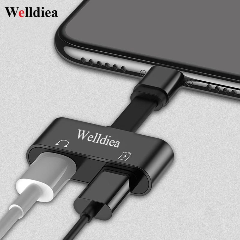 Welldiea 2 in 1 for Lightning Adapter For iPhone 7