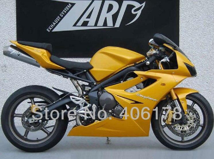 Горячие продаж,послепродажного обвес для Триумф Дайтона 675 06-08 2006-2008 Daytona675 желтый мотоцикл Зализа (литья под давлением)