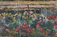 Unframed Claude Monet Painting Peony Garden wall decor oil Phonto Printed Oil Canvas Reproduction Wholesale