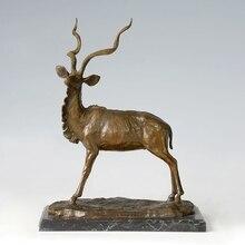 ATLIE BRONZES Copper Brass statue bronze Tibetan antelope sculpture Soft outfit house decoration