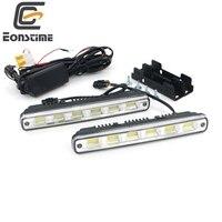 2pcs White Universal DC 9V 30V 12 COB LED Daytime Running Light Super Car DRL Lamp