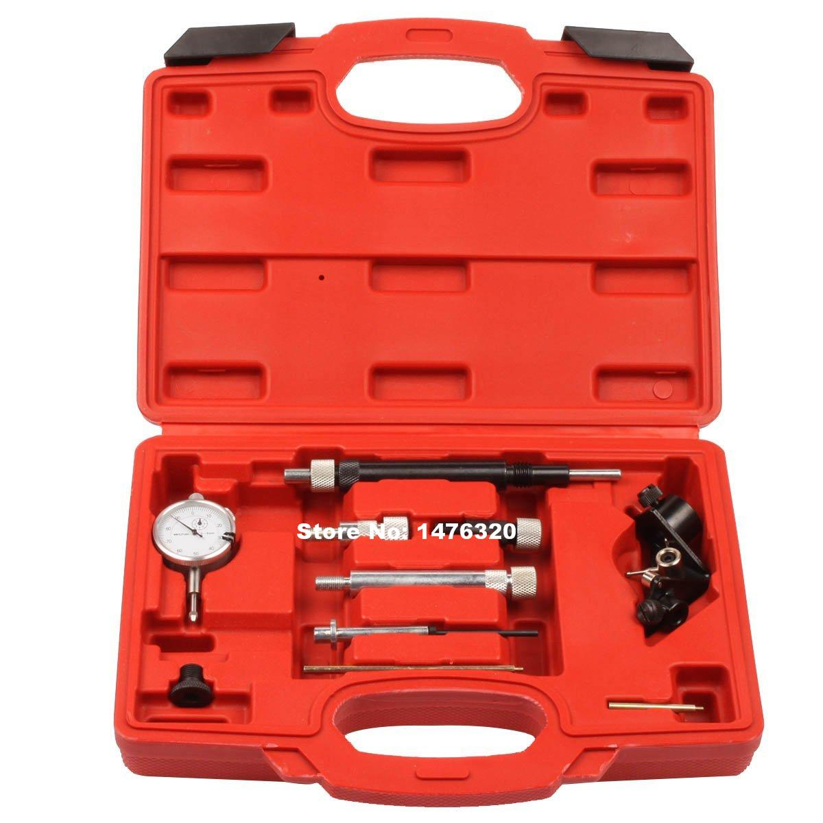Automotive Engine Diesel Fuel Injection Pump Timing Diagnostic Tester Indicator Gauge Tool Kit AT2175