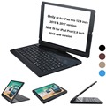 Voor iPad pro 12.9 case toetsenbord 2017 en 2015 360 Graden Draaibare Wireless Bluetooth Keyboard Auto Sleep/Wake up stand