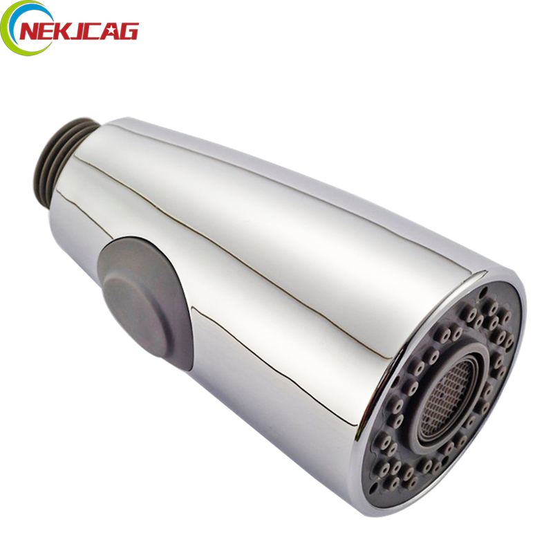 купить Free Shipping Chrome Finish Replacement Kitchen Faucet Spray Head ABS Material по цене 609.94 рублей