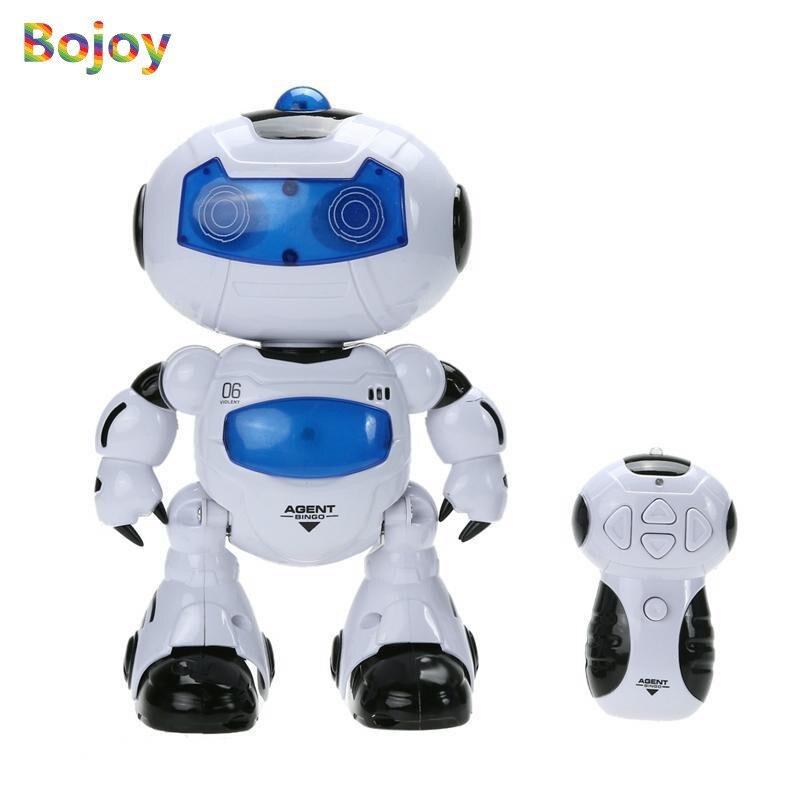 RC Robot leksak Elektrisk Intelligent Fjärrkontroll Musikalisk Dans Walk Lightenning Toy för barn och barn Gift High Quality