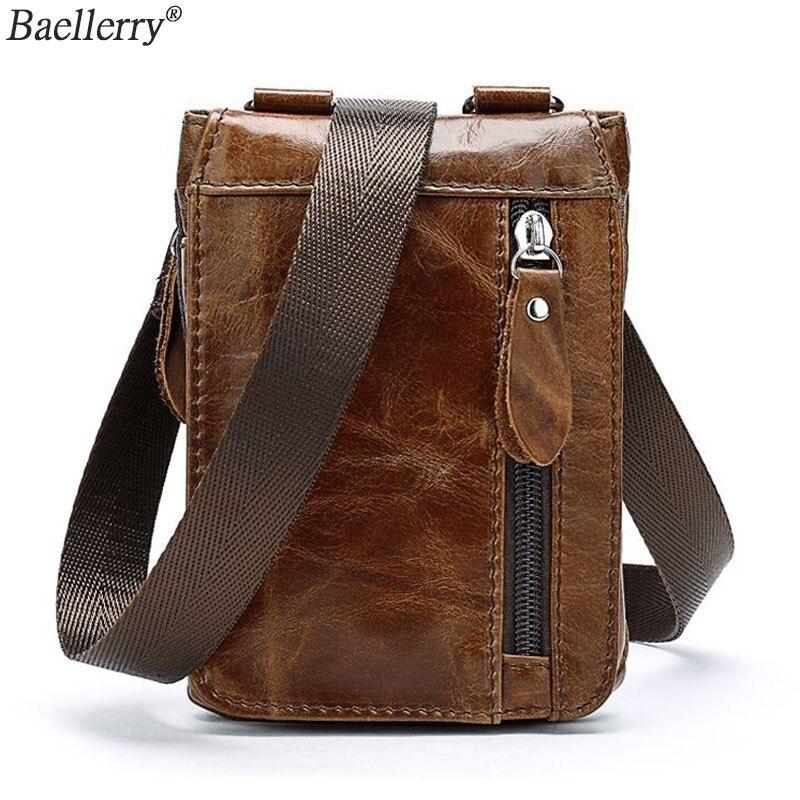 Sacs à bandoulière en cuir véritable pour hommes sac Messenger Vintage marque Sling homme bandoulière petit garçon voyage enveloppe sac à bandoulière