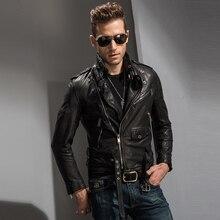 Männer Felsen Lederjacke Schlank Punk Mantel Schwarz Farbe Motorradjacke Reiter Oberbekleidung Niete Kühlen Jacke TJ01