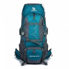 85 एल बड़े आउटडोर बैकपैक निविड़ अंधकार यात्रा बैग कैम्पिंग लंबी पैदल यात्रा महिलाएं Climbing बैकपैक्स निविड़ अंधकार Rucksack पुरुषों खेल बैग