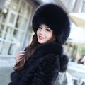 2015 Best Christmas gift! New Arrival Fashion women genuine fox fur hat Russian warm leifeng fur Cap 7 Color