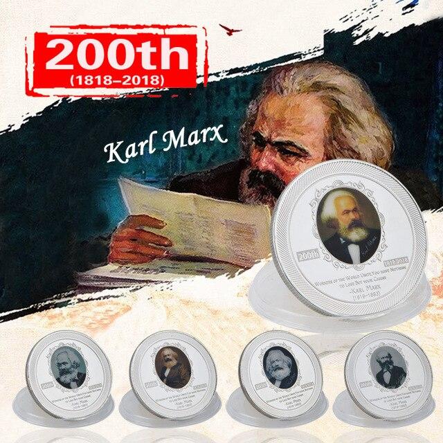 Wr Karl Marx 200th Geburtstag Jahrestag Silber Münzen Sammlerstücke