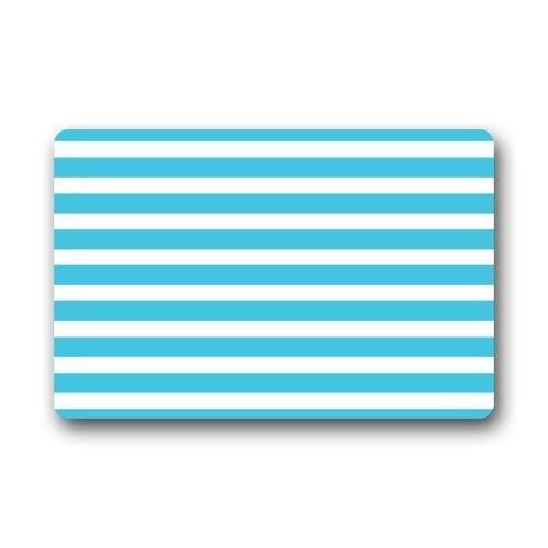 Light Blue And White Cross Stripe Pattern Doormats Floor Mat Door Mat Rug Indoor/Outdoor Mats Welcome Doormat 23.6X15.7 Inche
