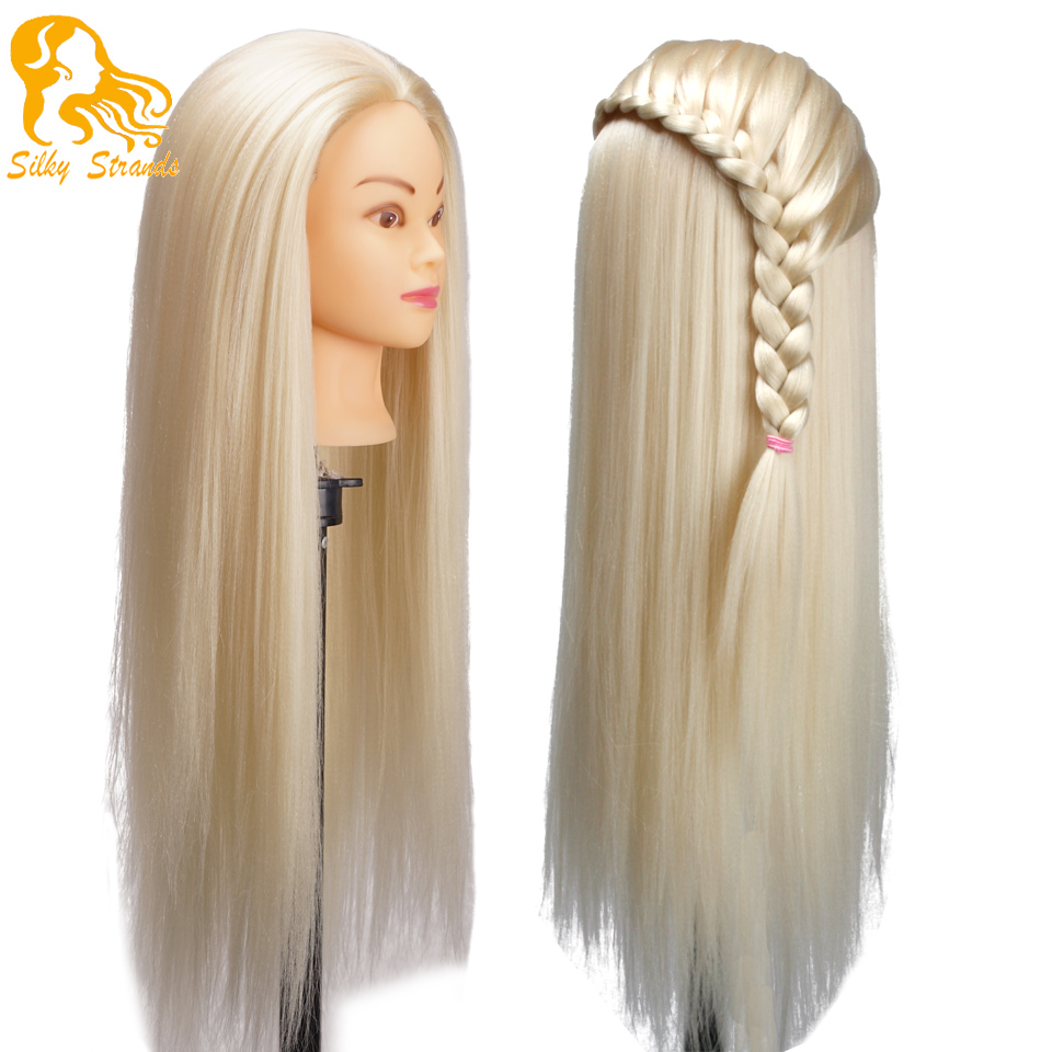 Blonde Dummy Mannequin Heads Dolls Hairstyles Training Head For Hairdressers Female Mannequin
