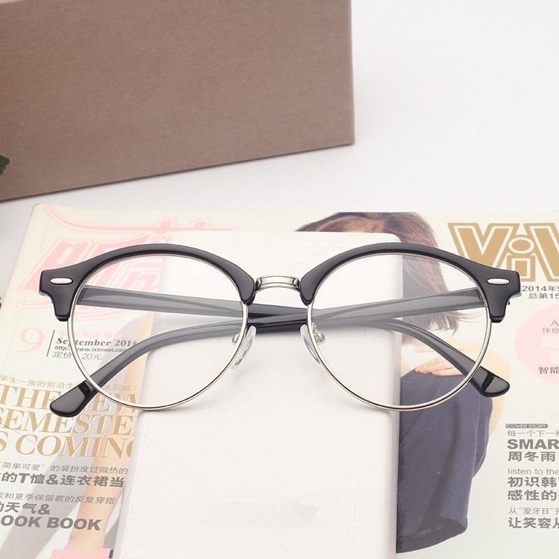 bdeb3b19daf Detail Feedback Questions about BOYEDA Brand Fashion Half Frame Male Eyeglasses  Women Vintage Round Men Eye Glasses Frame Optical Spectacle Prescription ...