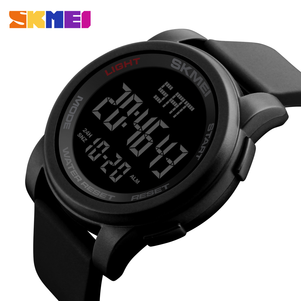 SKMEI Luxury Brand Mens Watches Swim 50m LED Digital Sport