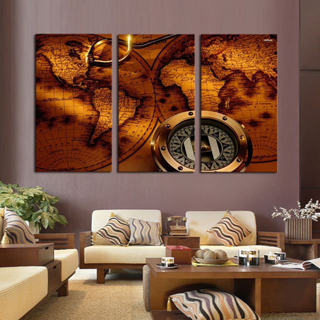 2017 promotion sale no art paintings on the wall world map canvas 2017 promotion sale no art paintings on the wall world map canvas painting pictures for living gumiabroncs Gallery