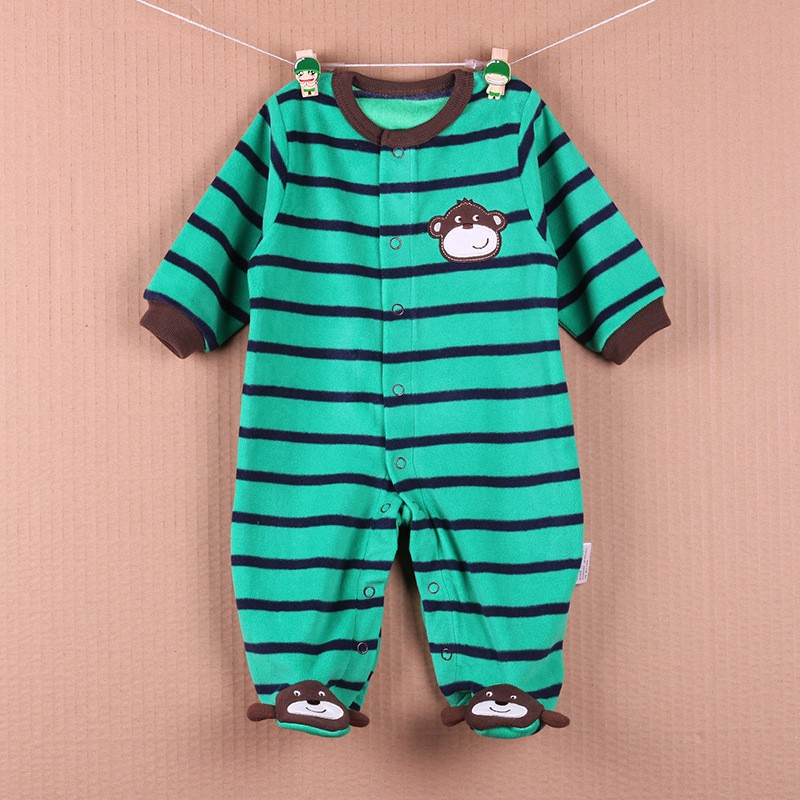 New Arrival Baby Footies Boys&Girls Jumpsuits Spring Autumn Clothes Warm Cotton Baby Footies Fleece Baby Clothing Free Shipping (13)