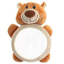 Car Back Seat Safety Baby Mirror Cartoon Bear Plush Adjustable Kids In