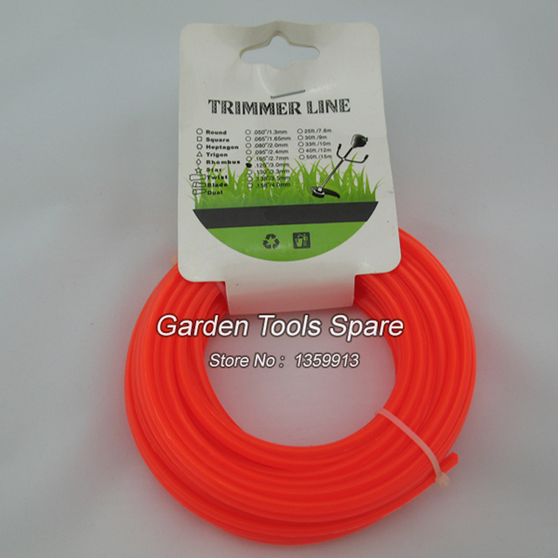 2PCS  ROUND nylon trimmer line with 3.0MM*15M size for sale mini garden nylon grass trimmer line light purple 15m