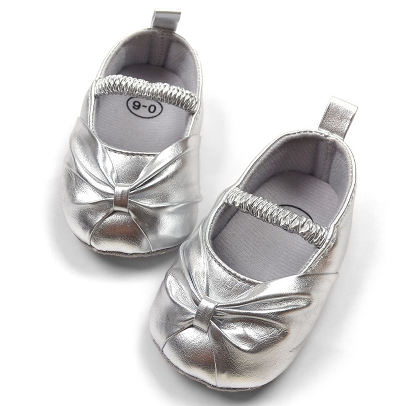 Aliexpress.com : Buy Formal dress baby shoes for girl silver ...