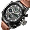 2016 AMST Marca Dive LED Relógios Dos Homens Do Esporte Militar Relógio de Quartzo de Couro Relógio de Homens Relógios De Pulso xfcs quartzo-relógio Masculino relógio