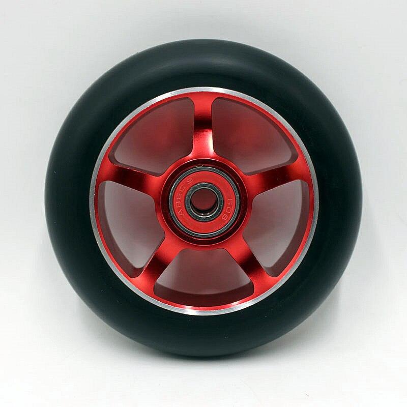 Prix pour Livraison gratuite 2 PCS 100x24mm 88A Meilleur vente scooter haute qualité alliage roues pour scooter/rodas de scooter/pro scooter roues