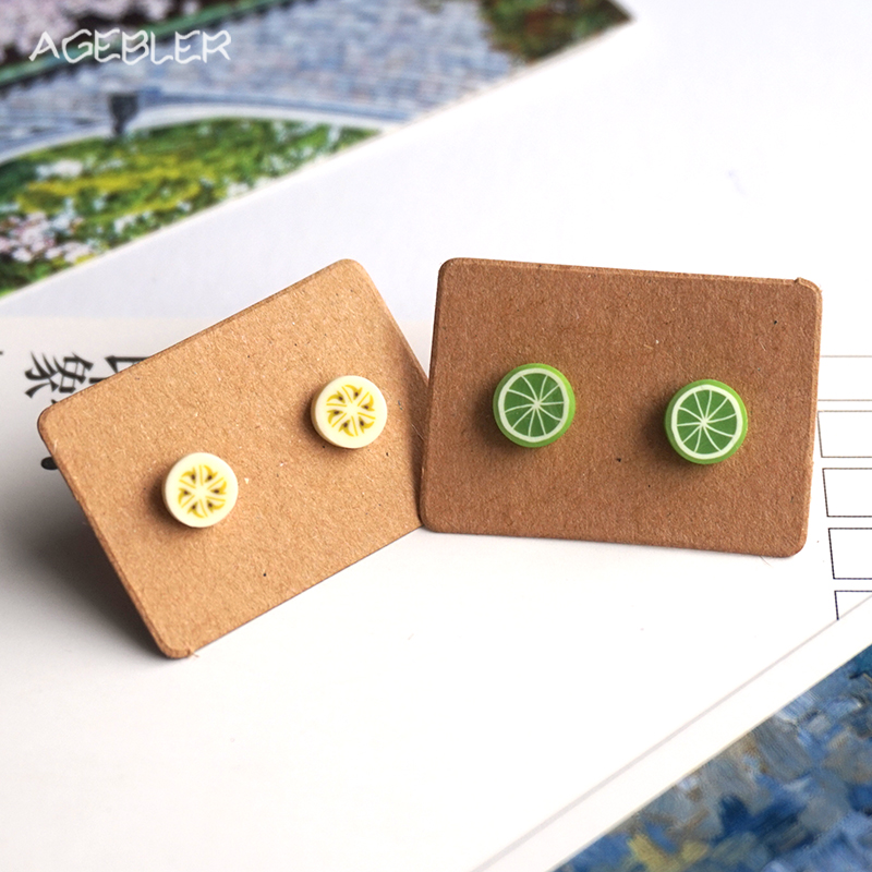 2pairs Lot Polymer Clay Stud Earring
