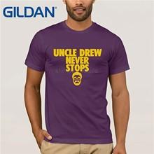 f1c2070c GILDAN Kyrie Irving traningsportwear t shirt uncle Drew 100% cotton Mens t  shirt big size XS-XXL