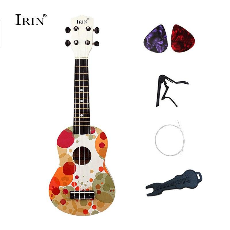 f8ac5b7697 Hot Sale Ukulele Soprano 4 Strings Music Acoustic Guitar 21 Inch Wooden  Ukelele 5 Styles Hawaiian Guitars Ukulele Cavaquinho