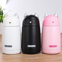 ThermosCup Cartoon Katze Thermobecher Drink Kinder Wasserflasche Edelstahl Kind Isolierflasche tasse Becher dicht Tumbler