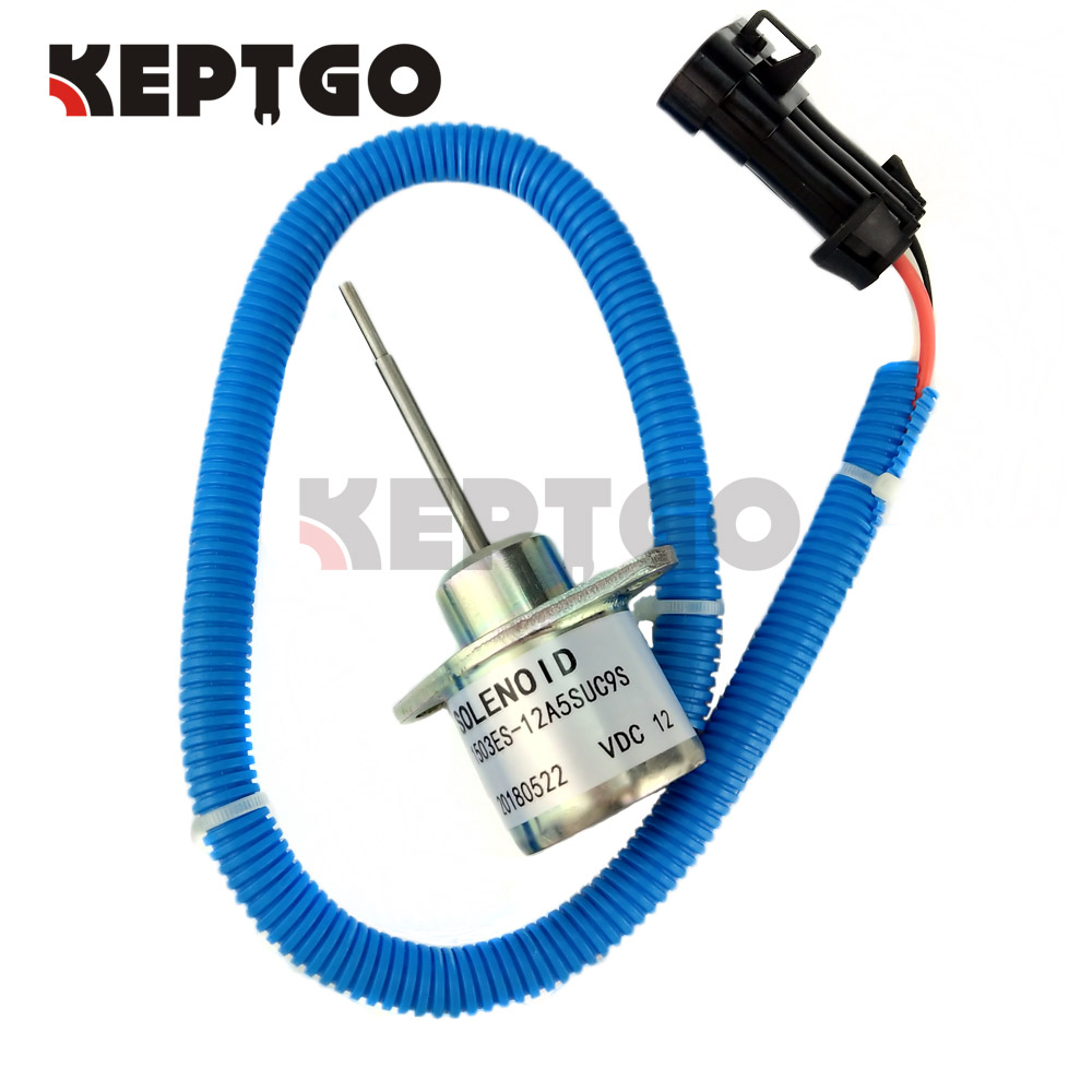 12v Shutoff Solenoid Valve Fit For Kubota V2203 Engine 1E152-60011 SA-4289-T stop solenoid 1j710 60011 12v for engine v2607