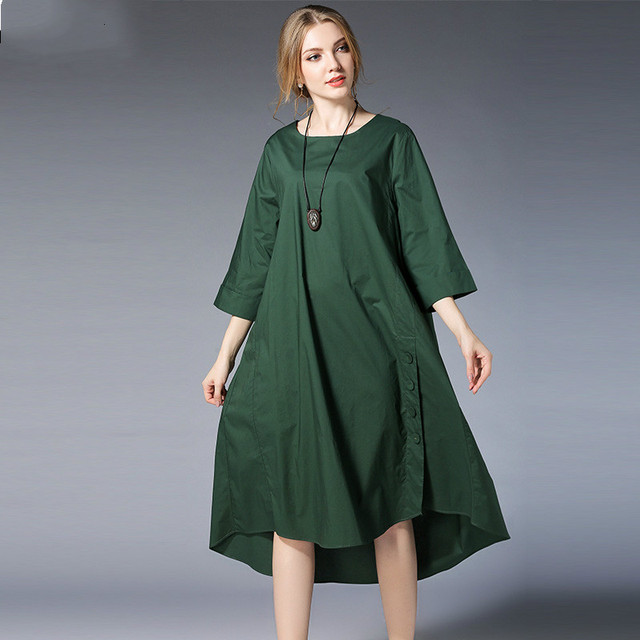 New Spring Maternity Dress Cotton Loose Asymmetrical Pregnancy Dress Black Red Pregnant Clothes Casual
