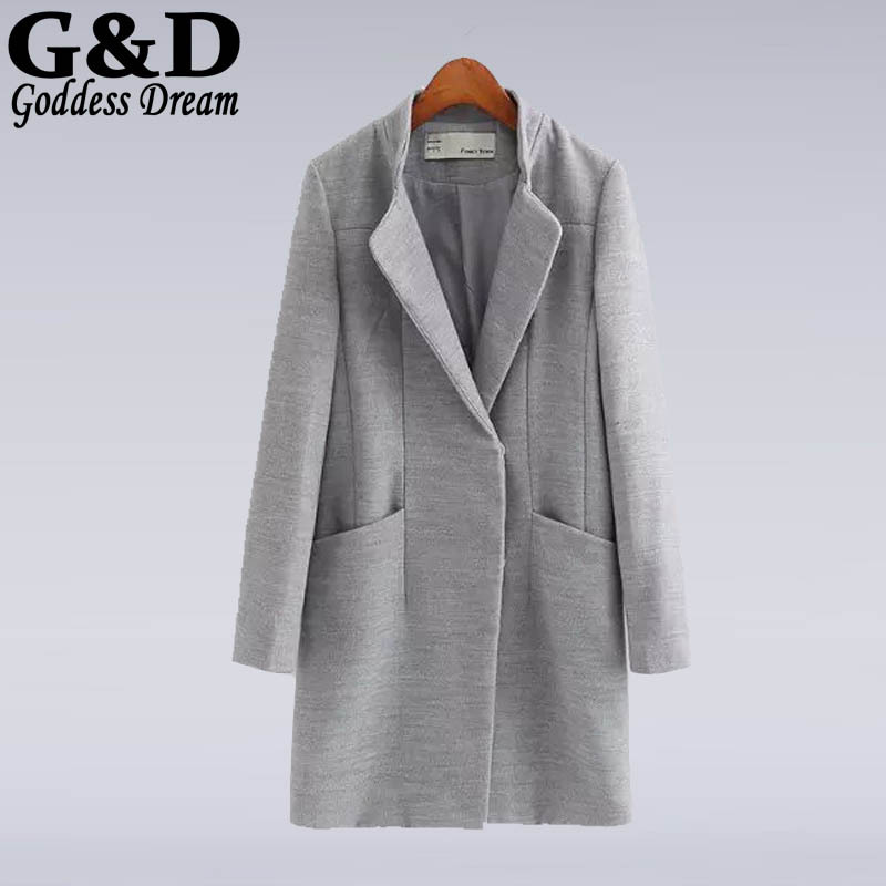 Online Get Cheap Grey Wool Coat Women -Aliexpress.com | Alibaba Group