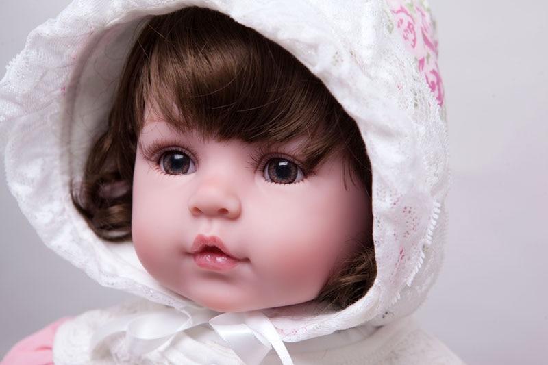 55 cm Silicone Reborn Bébé Poupée Jouets En Vinyle Réaliste Poupées de Princesse Pour Filles Enfants Cadeau D'anniversaire Cadeau De Noël Maison de Jeu jouet
