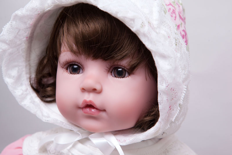 55cm Silicone Reborn Baby Doll Toys Lifelike Vinyl Princess Dolls For Girls Kids Birthday Gift Christmas Present Play House Toy 50cm princess baby dolls toys for girls lifelike birthday present gift for child early education play house bedtime toy dolls