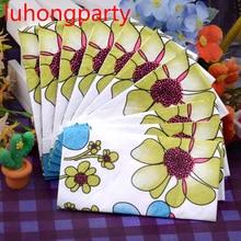 2016 new arrivel toilet tissue Colorful Flower Printed Facial napkin paper event handkerchief wedding serviette birthday party