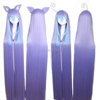 150 см miniwa tsumiki длинные Голуб фьюжн прямо аниме косплей Panic волос. бесплатная доставка