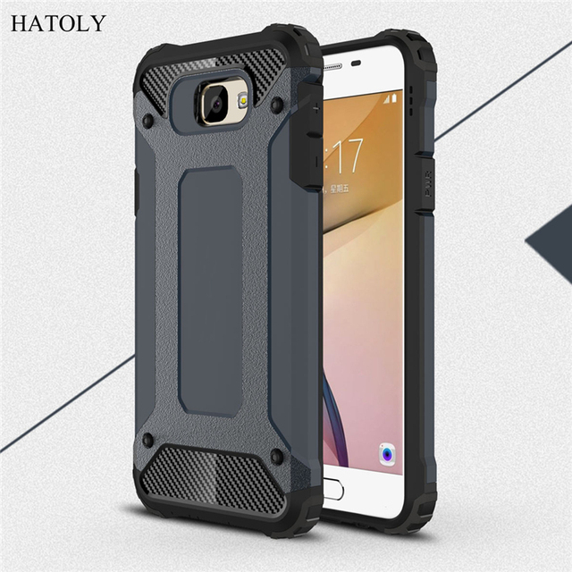 superior quality 2d4a3 e464f US $2.68 37% OFF|HATOLY For Coque Samsung Galaxy J7 Prime Case Heavy Armor  Hard Rubber Cover Silicone Phone Case for Samsung J7 Prime G610F 5.5