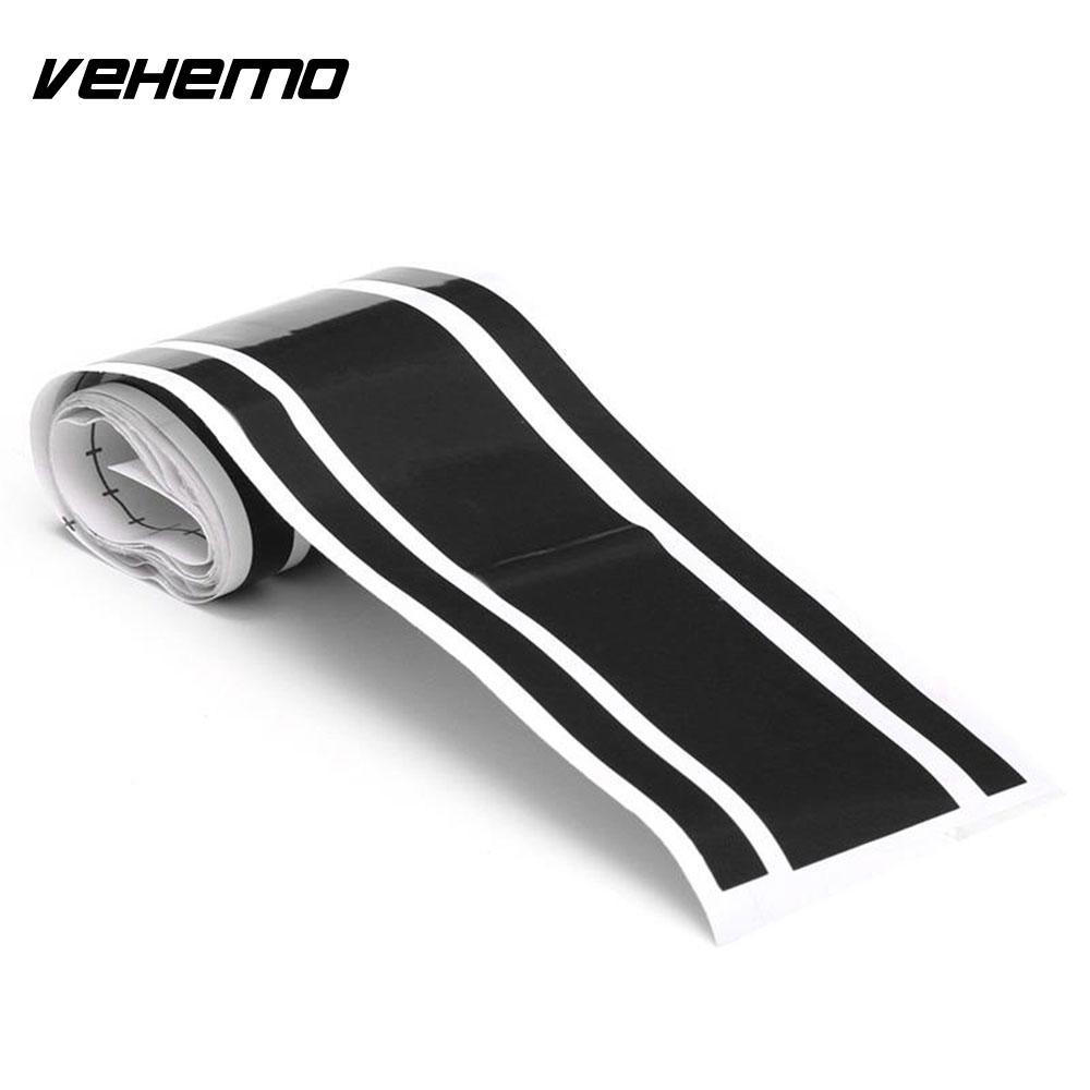 Vehemo 180x18cm Car Sticker Auto Engine Hood Scratch Cover Vinyl Decals  DIY Decoration Car-styling For toyota  avensis  yaris 3d car hood engine cover sticker waterproof sunscreen protective change color film auto decals car styling for audi a4 b6 a3 a6