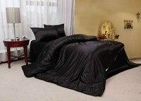 black silk bed sheet,30% silk + 70% fiber 4pc bedding sets without filling, soft silk bedding sets,bed set silk