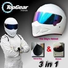 For TopGear The STIG Helmet Capacete Casco De / Bag + SIMPSON Sticker For Gifts