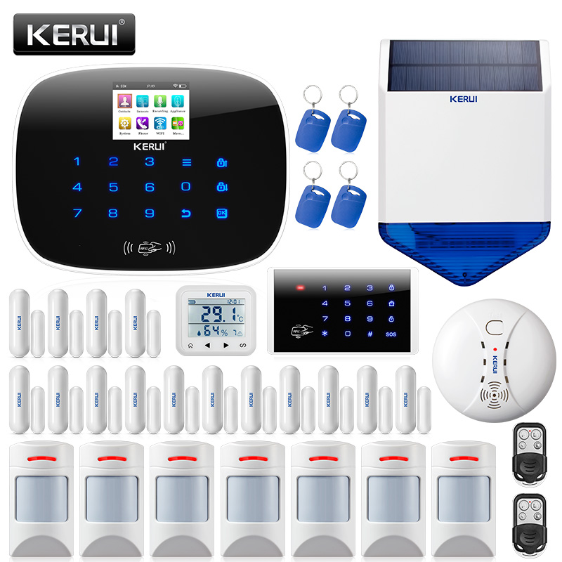 KERUI W193 Wireless 3G APP Remote Control Touch Screen Alarma Casa WIFI PSTN GSM Smart Home Burglar Security Alarm System Sets