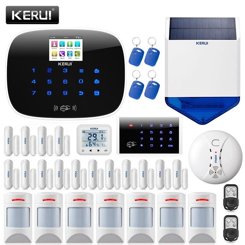 KERUI W193 bezprzewodowy pilot aplikacji 3G sterowanie ekranem dotykowym Alarma Casa WIFI PSTN GSM inteligentny zestaw alarmowy włamywacz do domu