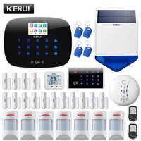 KERUI W193 inalámbrico 3G aplicación remota Control de pantalla táctil Alarma Casa WIFI PSTN GSM sistema de Alarma de seguridad antirrobo Casa inteligente juegos