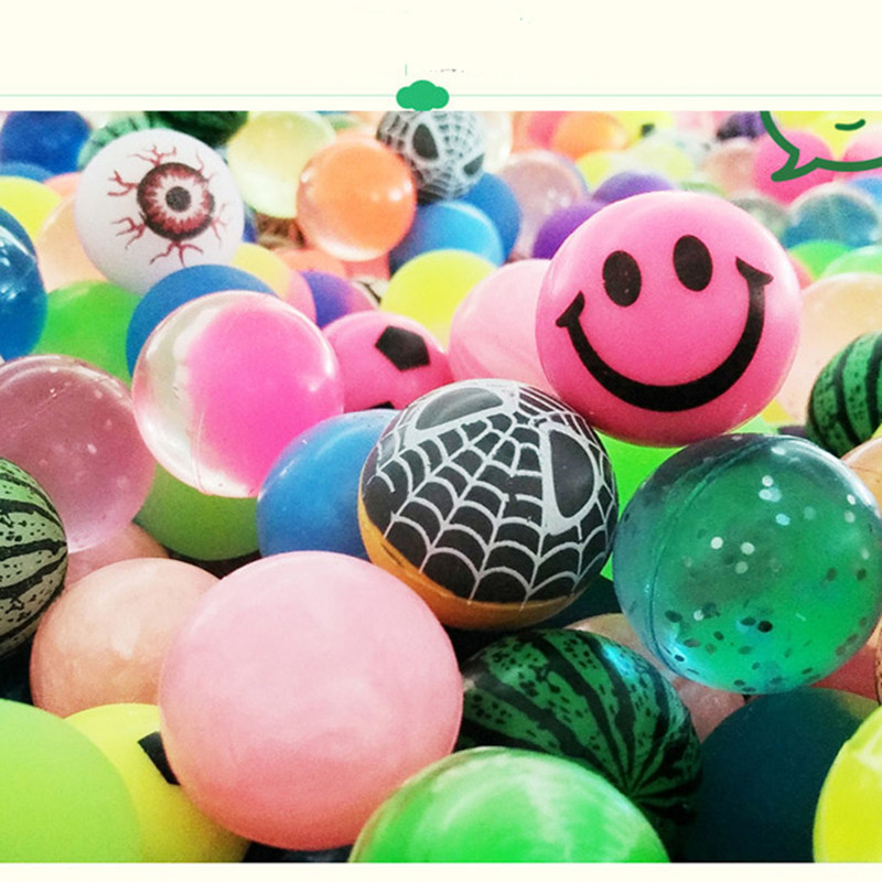 10pcs rubber mixed bouncing ball,spider smile eye styles toys for children kids pets,birthday party gifts promotion play balls