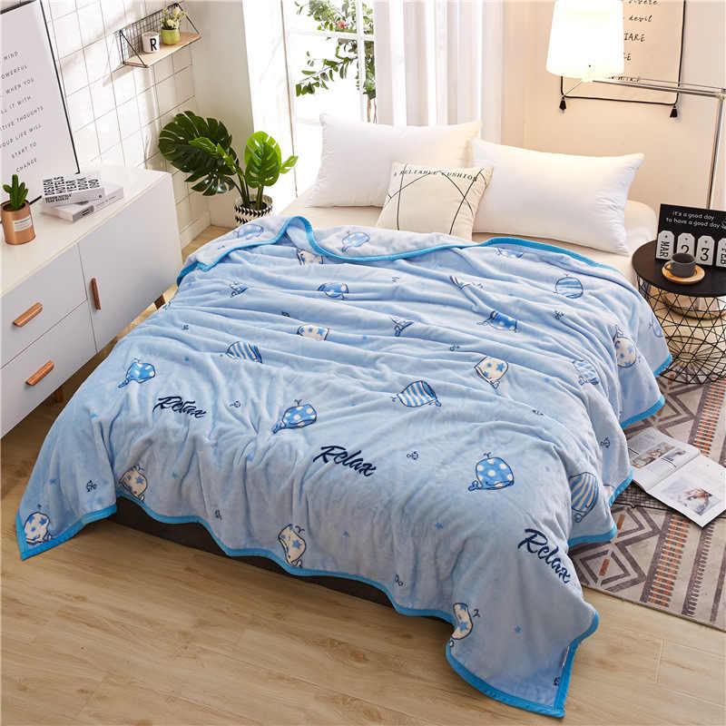 כחול עבה שמיכת למבוגרים ילדים ילד תלמיד רך מיטת כיסוי 120x200 150x200 180x200 200x230 230x250 כיסויי מיטה גיליון כרית לספה