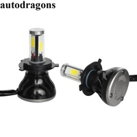 autodragons G5 2*H4 H7 H11 H8 9006 HB4 4 sides LED COB Headlight 40W 8000LM dual Beam Bulb Canbus 12V white Automobile Lamp