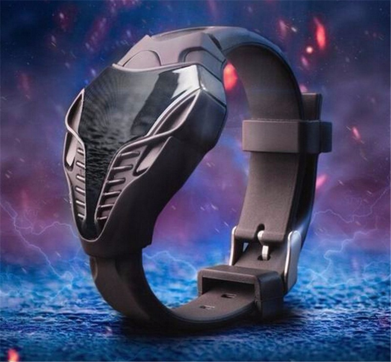 2018 New LED digital watch unique design silicone hand ring wristwatch For boy girl student sports watches relogio masculino