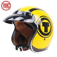 TORC T57 Harley Electronic Motorcycle Helmet Vintage 3 4 Half Motorbike Helmets ECE Approval Moto Casque