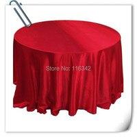 זול סיטונאי אדום הקמעונאי 90 אינץ 10 יחידות בד שולחן סאטן לחתונות מסיבות מסעדת מלון משלוח חינם MARIOUS